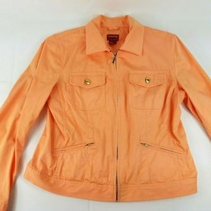 Chaps Denim Women's Petite Large Peach LightJacket
